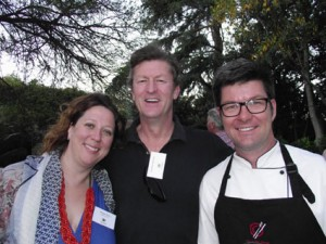 Georgie Prout (Glen Carlou); Jonathan Snashall; Richard Chamberlain (Out of this Planet Catering) LR