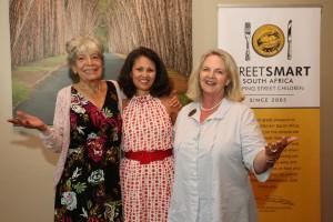 From left to right Annette Cockburn (Board member), Melanie Burke (Chairman), Margi Biggs (Founder) form StreetSmart SA