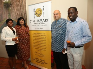 From left to right Brenda Karamba (Makaron Restaurant), Janet Pillay, Roger Botman (MTL Corp), Wonder Satiya (Makaron Restaurant)