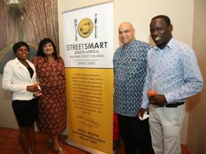 From left to right Brenda Karamba (Makaron Restaurant), Janet Pillay, Roger Botman (MTL Corp), Wonder Satiya (Makaron Restaurant)