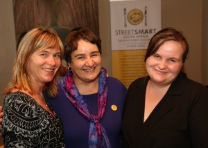 From left to right Careen du Toit, Reinette Retief (StreetSmart SA) and Zanmari du Toit (Waterkloof Restaurant)