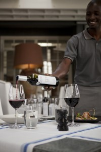 Grande Provence Service red wine pouring HR
