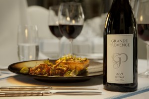 Grande Provence Shiraz and food