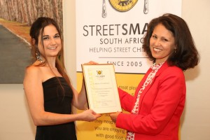 Janine van Zyl (Cold Gold Ice Cream) and Melanie Burke (StreetSmart SA Chairman)