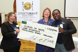 Left to Right Laura Collura (Thembalitsha School of Hope), Su Birch (StreetSmart) Ade Oyewo (Thembalitsha School of Hope)HR