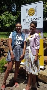 Svetlana Litz (One of the Swellendam Bursary Fund Recipients) with Melanie Burke (StreetSmart SA Chairman)