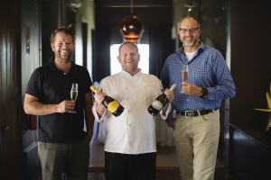 John Loubser, Chef Archie Maclean and JD Pretorius 1 Jumbo