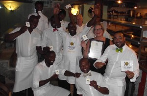 Savoy Cabbage Team with owner, Caroline Bagly, and Chef Peter Pankhurst HR