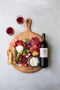 Constantia Glen antipasti platter with FIVE-5HR