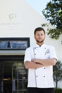 Executive Chef Darren infornt of wine tasting hr