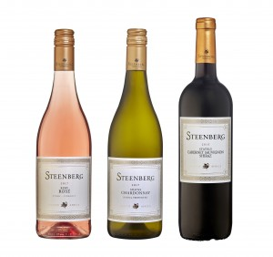 Steenberg Trio Ruby Rose, Sphynx Chardonnay and Stately HR