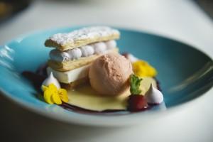 Blueberry & Yoghurt Mille Feuille landscape HR