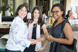 l.t.r. Event guests Luane de Villiers, Lori Milner and Koketso Serage hr
