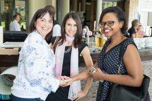 l.t.r. Event guests Luane de Villiers, Lori Milner and Koketso Serage hr