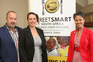 l.t.r. Jean-Pierre and Juanita Snyman (Franschhoek Country House Proprietors) with Melanie Burke (StreetSmart Chairman)