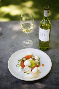 Grande Provence Chenin Blanc and Franschhoek trout salad HR