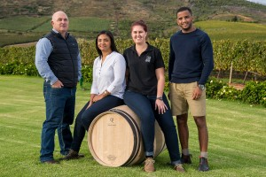 Left to right Andre Kotze (MD of Cape Cooperage Group), Gynore Fredericks, Elouise Kotze, Morgan Steyn (5)