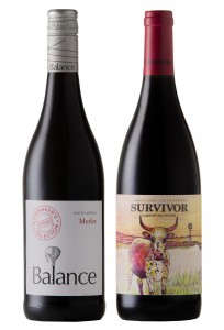 Balance WMS Merlot and Survivor Cabernet Sauvignon HR
