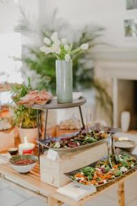 Harvest table at L'antico Giardino close up HR