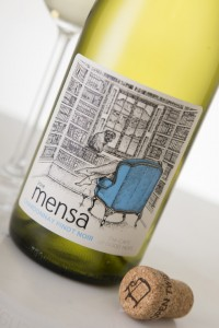Mensa Chardonnay Pinot Noir styled close up at an angle LR