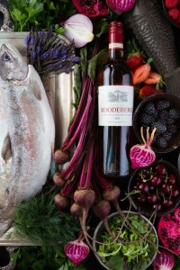 Roodeberg Rose & ingredients for home cured trout LR