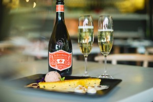 Steenberg Sparkling Sauvignon Blanc and Passion Fruit Tart - LR